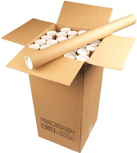 Ambassador PT-050-02-062A - Tubo de Carton para Envío Postal de Documentos, 50...
