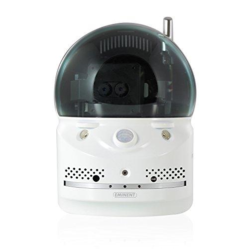 Eminent Easy Pro View Cámara de Seguridad IP 1280 x 800 Pixeles - Cámara de vigilancia (Cámara de Seguridad IP, Inalámbrico y alámbrico, 7 m, Auto, Negro, Blanco, LAN)
