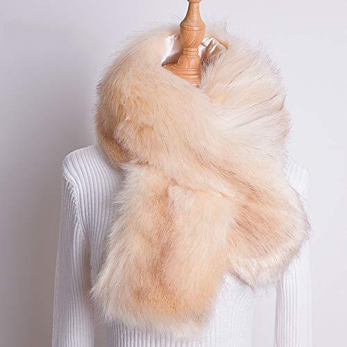 CTZNL Winter imitatiebont sjaal dames kraag patchwork eco Friendly