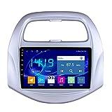 KLL Coche Bluetooth Radio para Chevrolet Spark/Beat 2019 2 DIN Pantalla Tactil 1080P Bluetooth Manos Libres DSP Salida de Video Controles del Volante Entrada AUX/CAM/DVR,WiFi+4g,1+32G