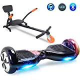 Windgoo Hoverboard 6.5' Balance Board Patinete Eléctrico Scooter Talla LED, Scooter eléctrico Self-Balance (Purple-Bluetooth)