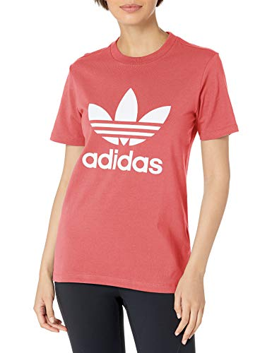 adidas Originals Trefoil tee Camisa, Rosa, XXS para Mujer