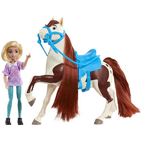 DreamWorks Spirit Riding Free Spirit Collector Doll & Horse - Abigail/Boomerang, 5 inches, Multicolor, Model:39246