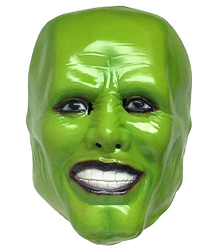 The Mask Jim Carrey Latex Masks for Cosplay Party Green