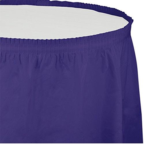Creative Converting Plastic Table Skirt, 14-Feet, Purple