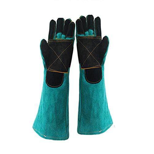 QQDD Biss Proof Handschuhe Verdickt Rindsleder Material Tier Erhöhen Und Rettungs Anti Haustiere Scratch Self Sicherheit Schutz Handschuhe (Size : Large)