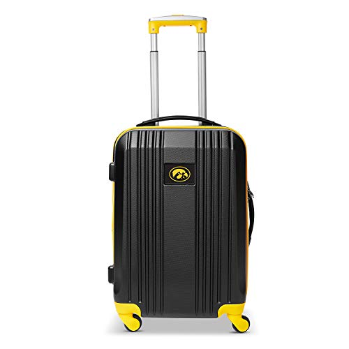 Find Discount Denco NCAA Iowa Hawkeyes Round-Tripper Two-Tone Hardcase Luggage Spinner