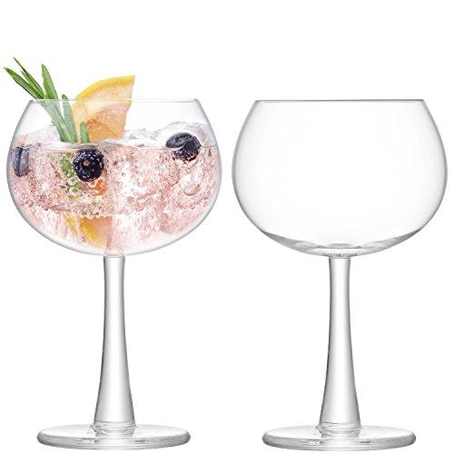 LSA International Gin Balloon Glass 14.2 fl oz/H6.75in Clear x 2
