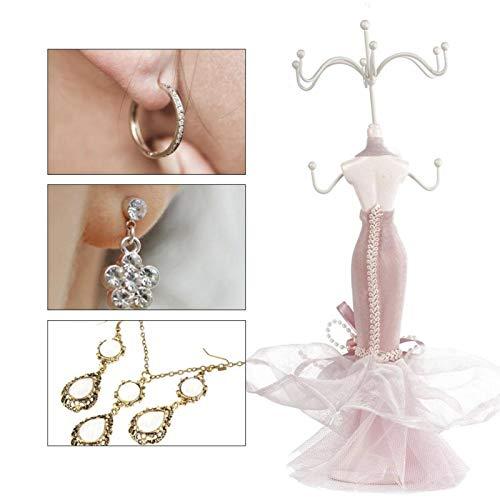 Estante de almacenamiento de pendientes de joyería, Soporte de exhibición de pulsera de collar de pendiente, Estante de almacenamiento de joyería [modelo pequeño], Adornos de joyería, Soporte de joyer