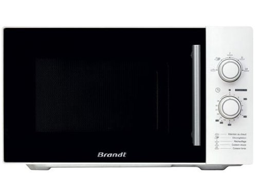 Brandt SM2602W Four à Micro Ondes Classique Pose Libre 26 L 900 W Blanc et Noir