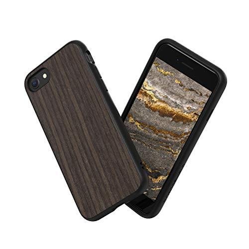 RhinoShield Coque compatible avec [iPhone SE2 / iPhone SE (2020) / iPhone 8 / iPhone 7]   SolidSuit - Housse Fine avec Technologie Absorption des Chocs & Finition Premium - Bois véritable - Chêne Noir