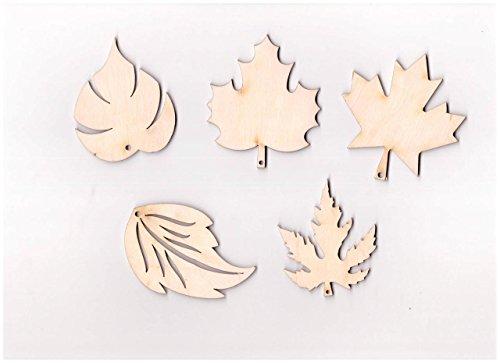 10 x de madera Mix Plain de hojas con texto en inglés de hojas de madera de roble de arce de abedul para decoración (V3) diseño de Star Wars