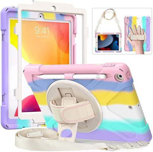 ITEAFCOM iPad 8th Generation Case for Kids, iPad Case 10.2 inch with Screen Protector, Heavy Duty Shockproof Protective Kids Case for iPad 8th 7th Gen 10.2 2020 2019