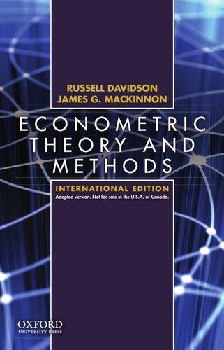Econometric Theory and Methods International Edition