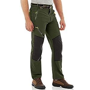 Magcomsen Mens Hiking Pants 4 Zip Pockets Rip Stop Water Resistant Lightweight Work Fishing Pants