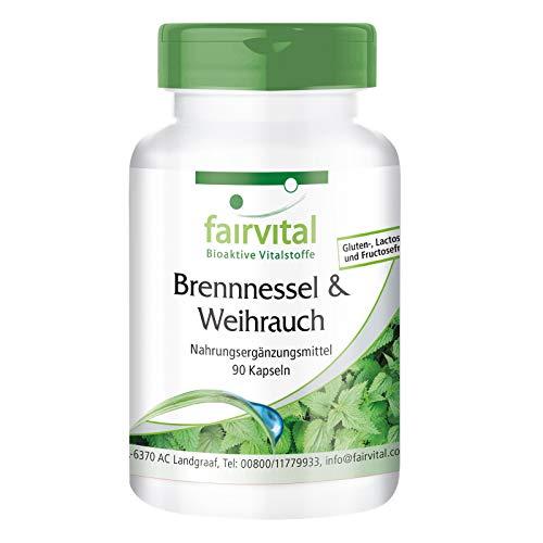 Boswellia Serrata + Ortiga - Suplemento VEGANO - Dosis elevada - mín. 65% de Ácidos Boswéllicos -...