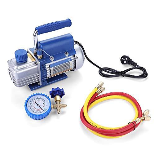 Einstufiger Vakuumpumpensatz für Klimaanlage/Kühlschrank mit Manometerrohr - CN-Stecker 220V 150W