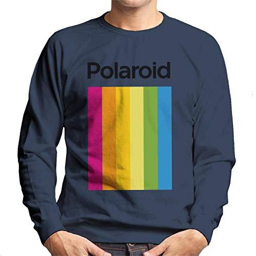 Official Polaroid Spectrum Logo Men's Sweatshirt, Blue, Gray or White, S to XXL