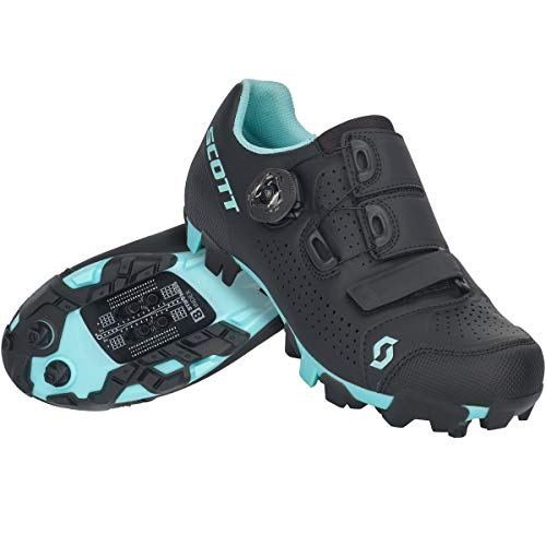 Scott MTB Team Boa Damen Fahrrad Schuhe schwarz/blau 2021: Größe: 37