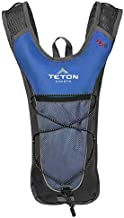 TETON Sports 1000B Trailrunner 2 Liter Hydration Backpack; Free 2-Liter Hydration Bladder; For Backpacking, Hiking, Running, Cycling, and Climbing; Blue, 16.5