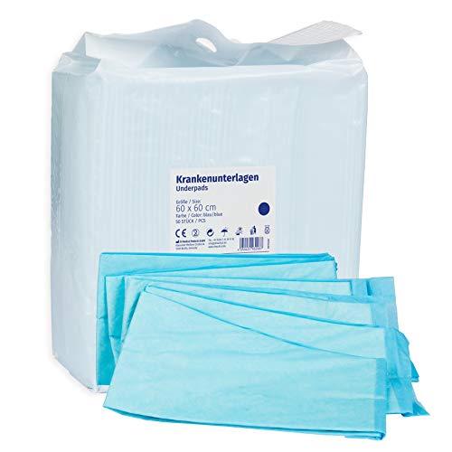 Alèses jetables 50 pièces 60x60cm bleu 6 plis, absorbance, Alèses de protection de literie