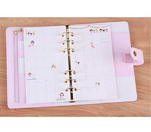 SENRISE - Ricarica a 6 fori per quaderno, formato A5, per compilare il tuo piano giornaliero/settimanale/mensile (40 pagine, confezione da 2)