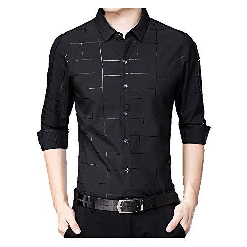 N\P Spring and Autumn Long Sleeve Shirt Men's Thin Business Casual no Iron Shirt Men's Upper Garment Men's Shirt