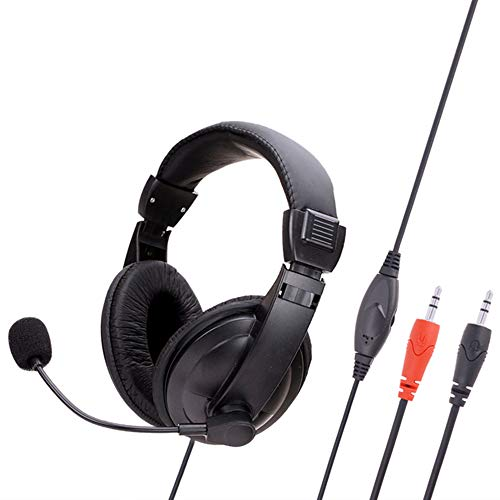 GAOword Over-Ear Headset Office Headset Stereo Gaming Internet Cafe Headset Lightweight And Comfortable Suitable for Work & Music
