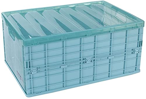 LIjiMY Pases de Almacenamiento Plegables Transparentes de plástico, Cajas de Almacenamiento Plegables apilables para Zapatos Ropa de Juguete Libros de comestibles (Color : Blue, Size : 9l)