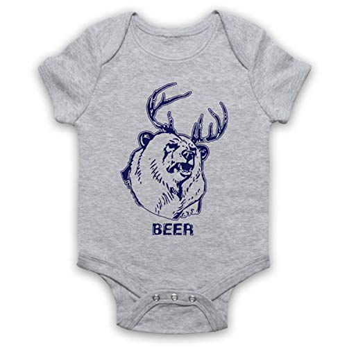My Icon Art & Clothing Sunny Philadelphia Beer Bear As Worn by Mac Comedy TV Bébé Barboteuse Bodys, Gris, 6-12 Mois