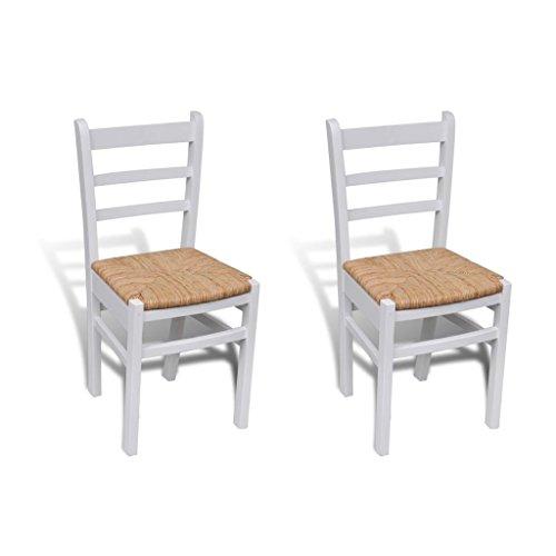 Sillas blancas de madera para comedor