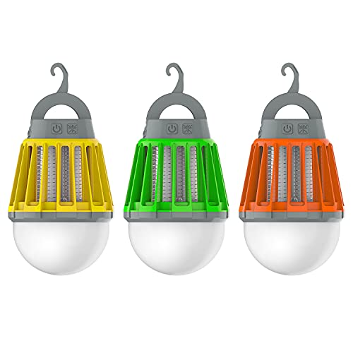 Wisely Bug Zapper Lantern 3-Pack LED Outdoor Patio Camping Decor