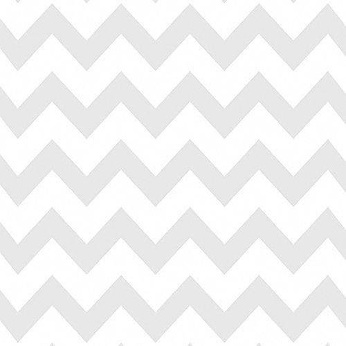 Papel de Parede, Chevron, Cinza, 1000x52 cm, Bobinex Uau