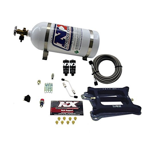 Nitrous Express 40040-10 4150 100-200 HP 4-BBL Hitman Plate System with 10 lbs. Bottle