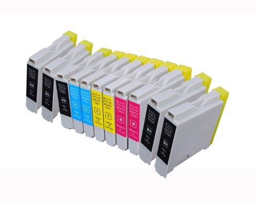 11 Multipack de alta capacidad Brother LC-1000 , LC-970 Cartuchos Compatibles 5 negro, 2 ciano, 2 magenta, 2 amarillo para Brother DCP-110C, DCP-115C, DCP-117C, DCP-120C, DCP-130C, DCP-135C, DCP-150C, DCP-153C, DCP-310CN, DCP-315CN, DCP-330C, DCP-340CW, DCP-350C, DCP-353C, DCP-357C, DCP-540CN, DCP-560CN, DCP-750CW, DCP-770CW, FAX-1355, FAX-1360, FAX-1460, FAX-1560, FAX-1835C, FAX-1840C, FAX-1940CN, FAX-2440C, HL-1230, HL-1430, HL-1440, HL-1450, HL-1470N, HL-1650, HL-1670N, HL-1850, HL-1870N, HL-2460, HL-7050, HL-7050N, MFC-210C, MFC-215C, MFC-235C, MFC-240C, MFC-260C, MFC-3240C, MFC-3340CN, MFC-3360C, MFC-410CN, MFC-425CN, MFC-440CN, MFC-465CN, MFC-5440CN, MFC-5460CN, MFC-5840CN, MFC-5860CN, MFC-620CN, MFC-640CW, MFC-660CN, MFC-680CN, MFC-820CW, MFC-845CW, MFC-885CW, MFC-885CW. Cartucho de tinta . LC-1000BK , LC-1000C , LC-1000M , LC-1000Y , LC-970BK , LC-970C , LC-970M , LC-970Y © 123 Cartucho