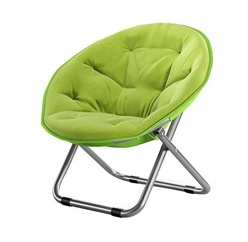 Folding Chairs Casa al Aire Libre Gran Luna Silla para Adultos/Sillón de Sol/Sillón reclinable/Sillón/Plegable/Silla Redonda/Sillón (Color : Green)