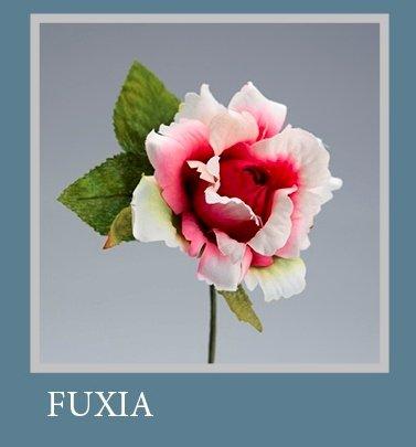 Set 6 pièces, Bonbonnière Fleur Bouquet Rose ad hoc, cm15 x 8 (ck5005-fx6) (Fuchsia)