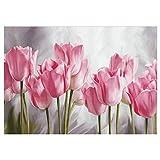 Mogzank Pittura Diamante Pieno Tulipani Rosa Diamante DIY Ricamo Serie Fiori Decorazione Pittura per Il Soggiorno Un Buon Regalo per La Famiglia