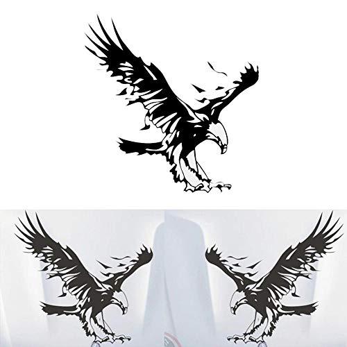 YHJGKO 1PCS Material Autoaufkleber, Adler Totem Aufkleber, Motorhaube Aufkleber, Adler ausgebreiteten Flügel Adler Toter Haube Aufkleber (OPP Beutel)