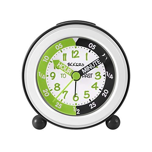 Tikkers wekker met een wit, zwart & groen gezicht TKAC005