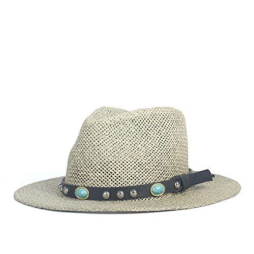 Xuguiping Sombrero de Moda Sombrero Adulto Verano Panamá Sombrero de Playa for Hombres Mujeres Sombrero de Paja Transpirable Mujeres Escorpión Colgante Sombrero for el Sol Vaquera Gorra de Jazz