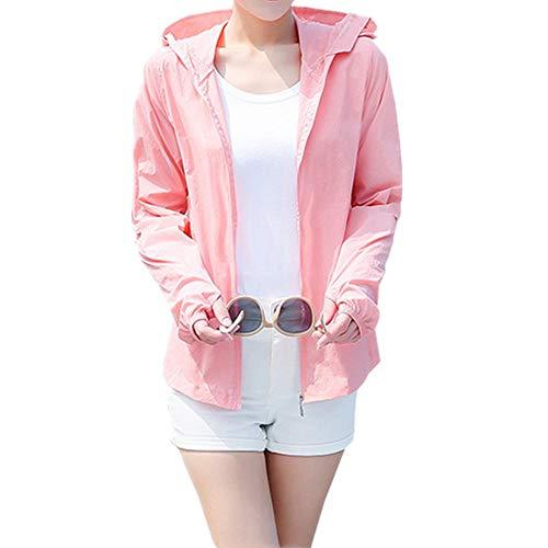 Grandi dimensioni estate spiaggia protezione UV giacca signore protezione solare abbigliamento signore rosa M