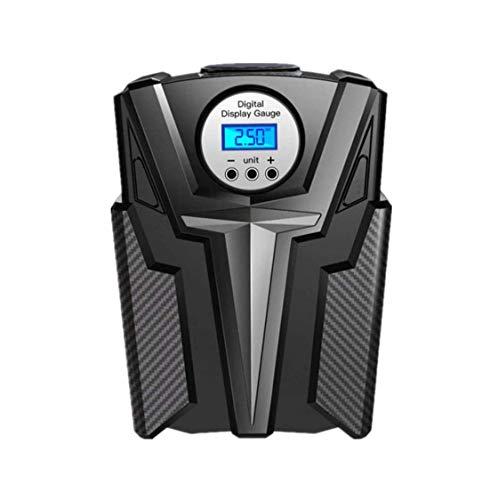 ZOUSHUAIDEDIAN Inflador de neumáticos de compresor de Aire portátil, Bomba de Aire Digital DC 12V con luz LED for Baloncesto, Bicicleta, Motocicleta, Bolas, Negro