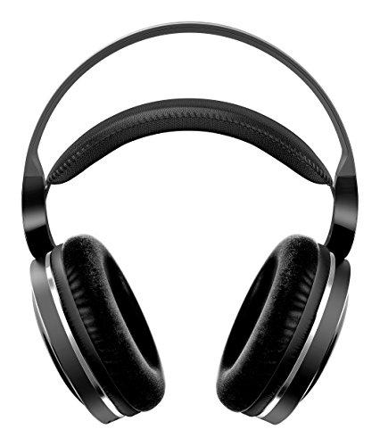 Casque Philips Circum-aural sans Fil pour téléviseur SHD8850/12 Casque HiFi sans Fil (Excellent Son Haute résolution, portée utile 30 m, Base de Recharge, Coussinets en Velours) Noir