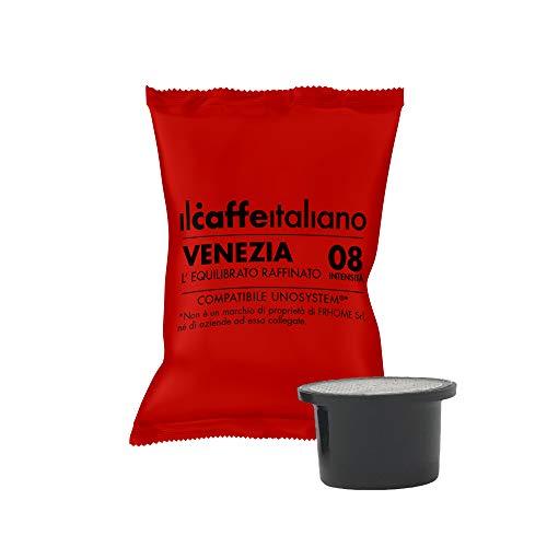 FRHOME Il Caffè Italiano Capsule compatibili con UNO System, Miscela Venezia Intensità 8, Confezione da 100 Capsule