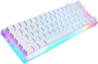 لوحات المفاتيح - مجموعة لوحة مفاتيح ميكانيكية مخصصة 66 مفتاحًا للسيدات 65% 66 PCB Case كيف يمكن التبديل بين تأثيرات الإضاء...