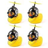 QKFON 2/4 piezas de pato decoración de coche, pato amarillo