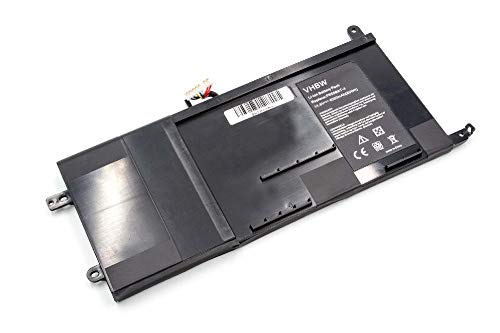 vhbw Battery compatible with Schenker XMG P505, XMG P505 Pro, XMG P505-2AR, XMG P505-6OH, XMG P505-7UB Laptop (4050mAh, 14.8V, Li-Ion, black)