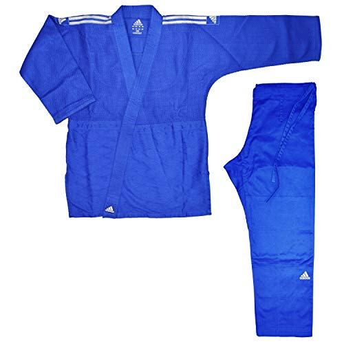 adidas Judo-pak Contest blauw/zilveren strepen, J650B