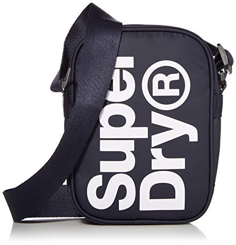 Superdry Herren Side Bag Umhängetasche, Navy, Einheitsgröße